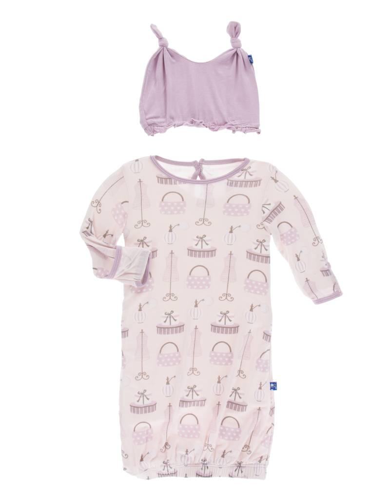 Kickee Pants Shopping Paris Layette Gown and Hat Set - My Urban ...