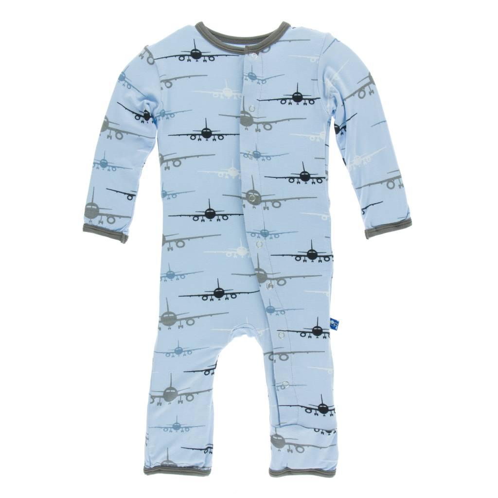 Kickee Pants Pond Airplane Print Coverall