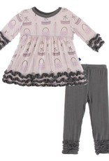 Kickee Pants Shopping Paris Long Sleeve Babydoll Dress Set