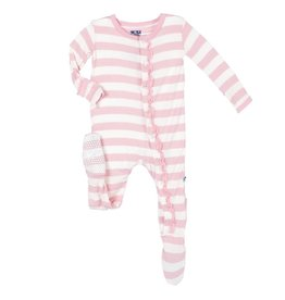 Kickee Pants Lotus Stripe Ruffle Footie