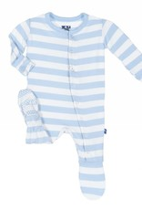 Kickee Pants Pond Stripe Footie