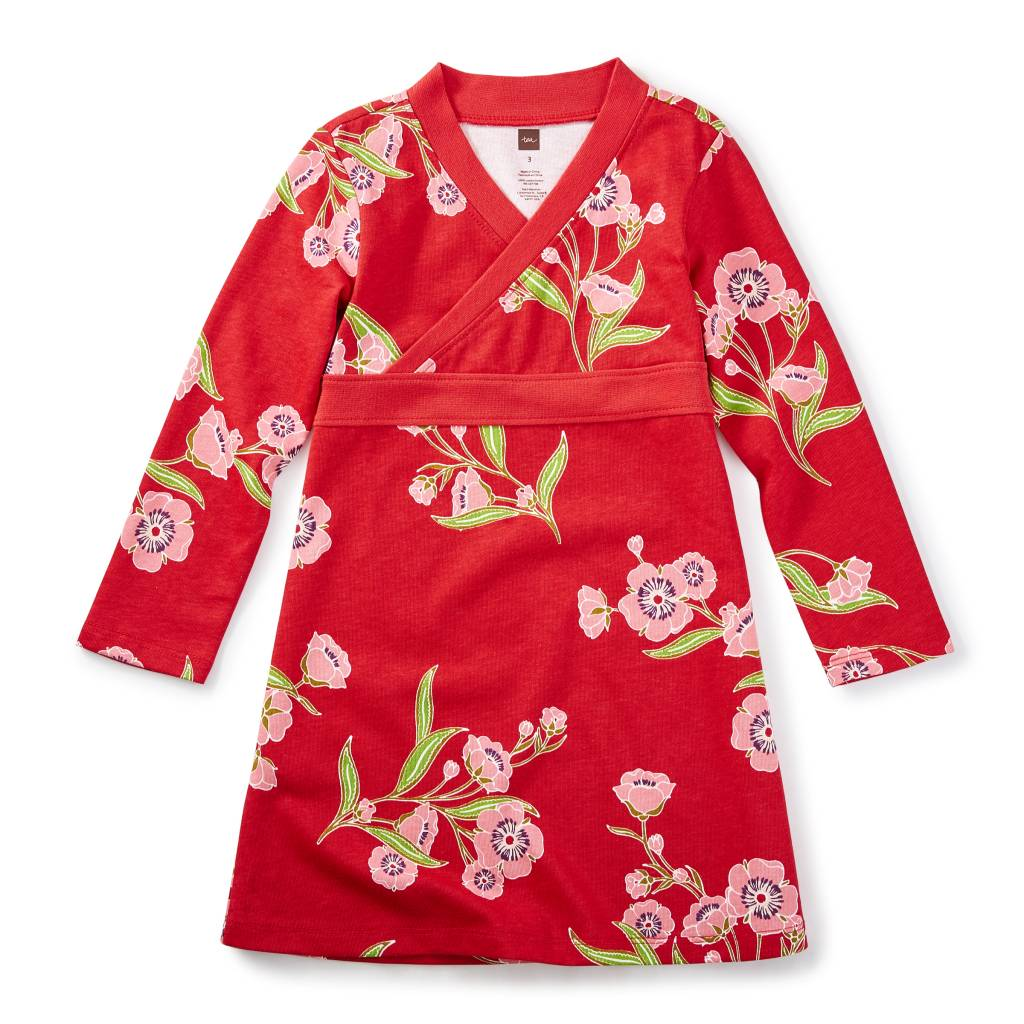 Tea Collection Rowan Wrap Neck Dress