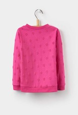 Little Joule True Pink Polka Dot Sweater