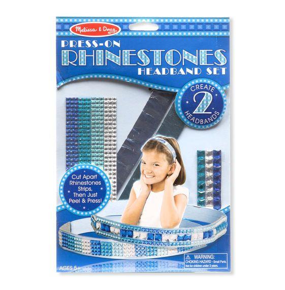 Melissa & Doug, LLC Press-On Rhinestones Headband Set