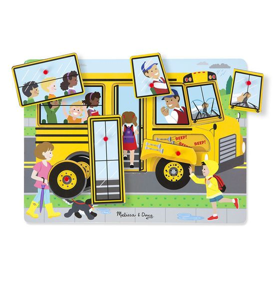 Melissa & Doug, LLC The Wheels on the Bus Sound Puzzle