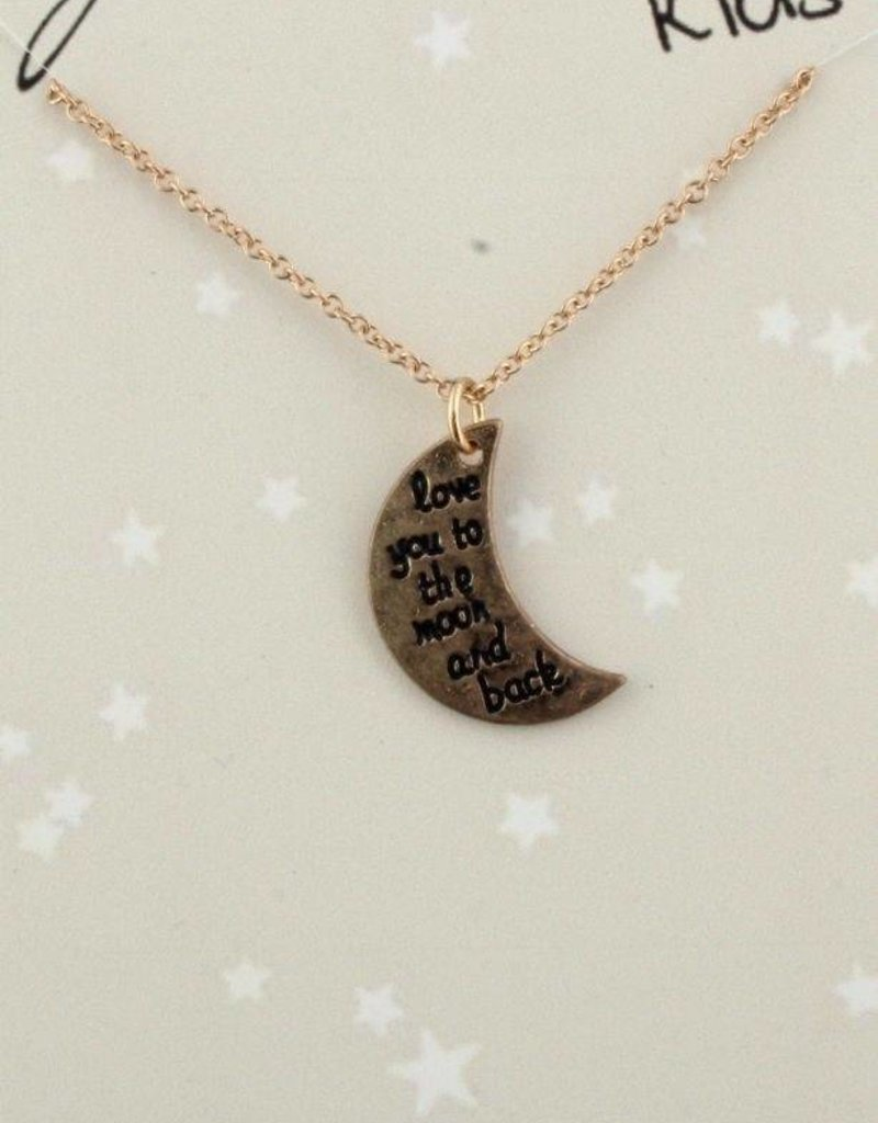 Jane Marie Love You to the Moon Necklace