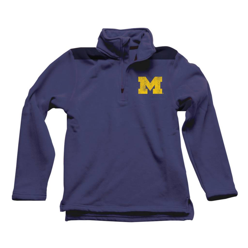 Wes and Willy Midnight U of M 1/4 Zip Top