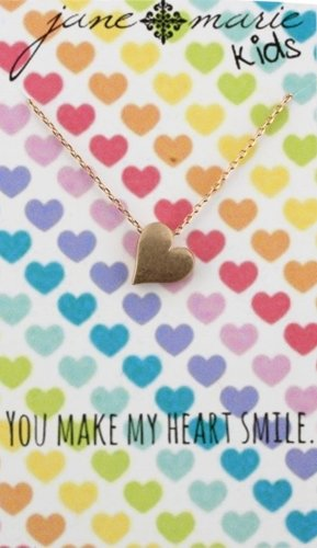 Jane Marie Gold Heart Necklace