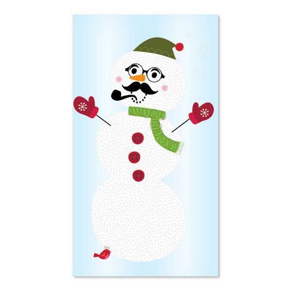 Build-a-snowman wall decal
