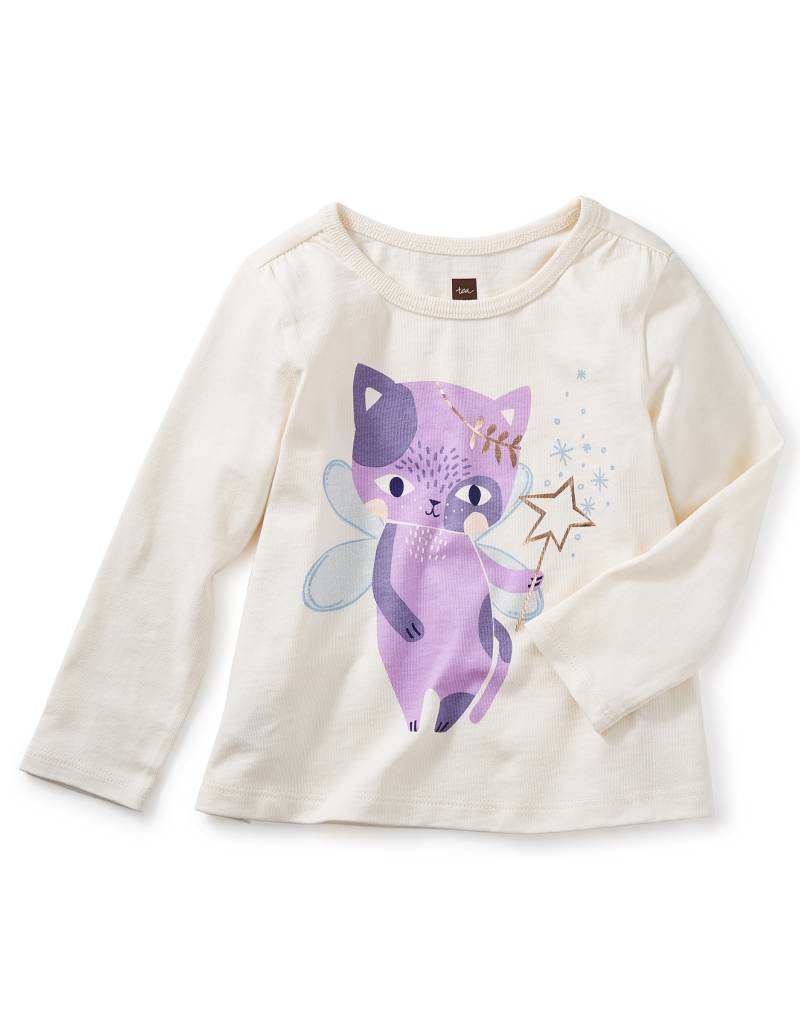Tea Collection Cat Fairy Graphic Tee