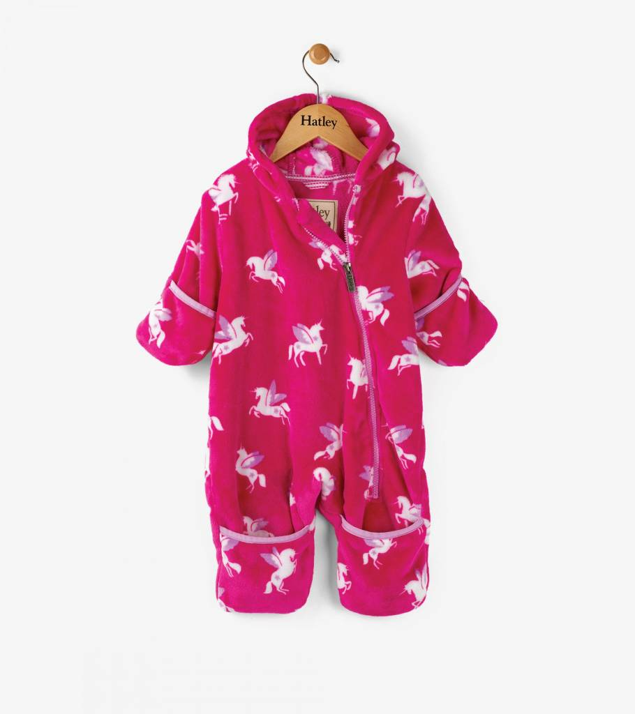 Hatley Winged Unicorns Fleece Bundler