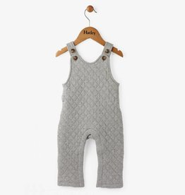 Hatley Heather Grey Quilted Mini Overalls