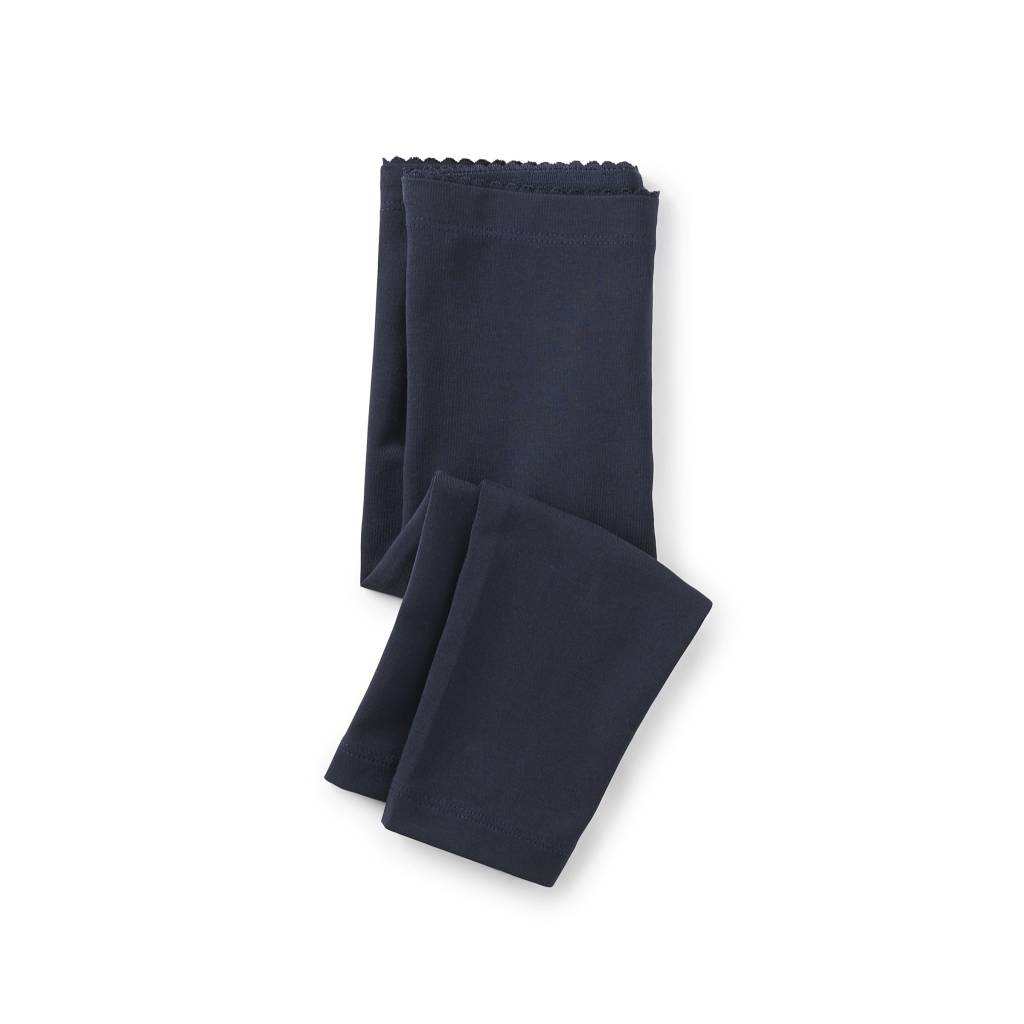 Tea Collection Skinny Solid Baby Legging Heritage Blue
