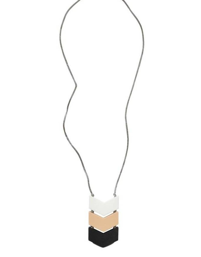 Itzy Ritzy Triple Chevron Pendant Necklace