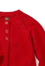 Tea Collection Red Lantern Agatha Cable Cardigan