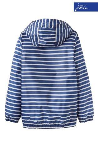 Little Joule Blue Stripe Waterproof Jacket