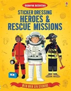 Usborne Books Heroes &Rescue Mission Stickers