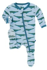 Kickee Pants Pond Crocodile Print Footie