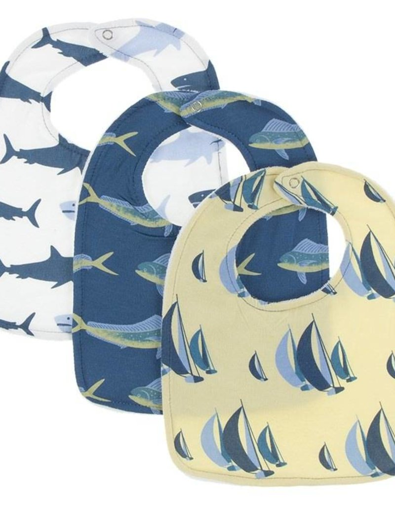 Kickee Pants Natural Megalodon Bib Set