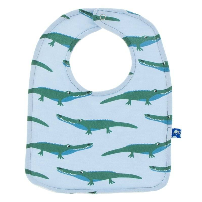 Kickee Pants Pond Crocodile Bib Set