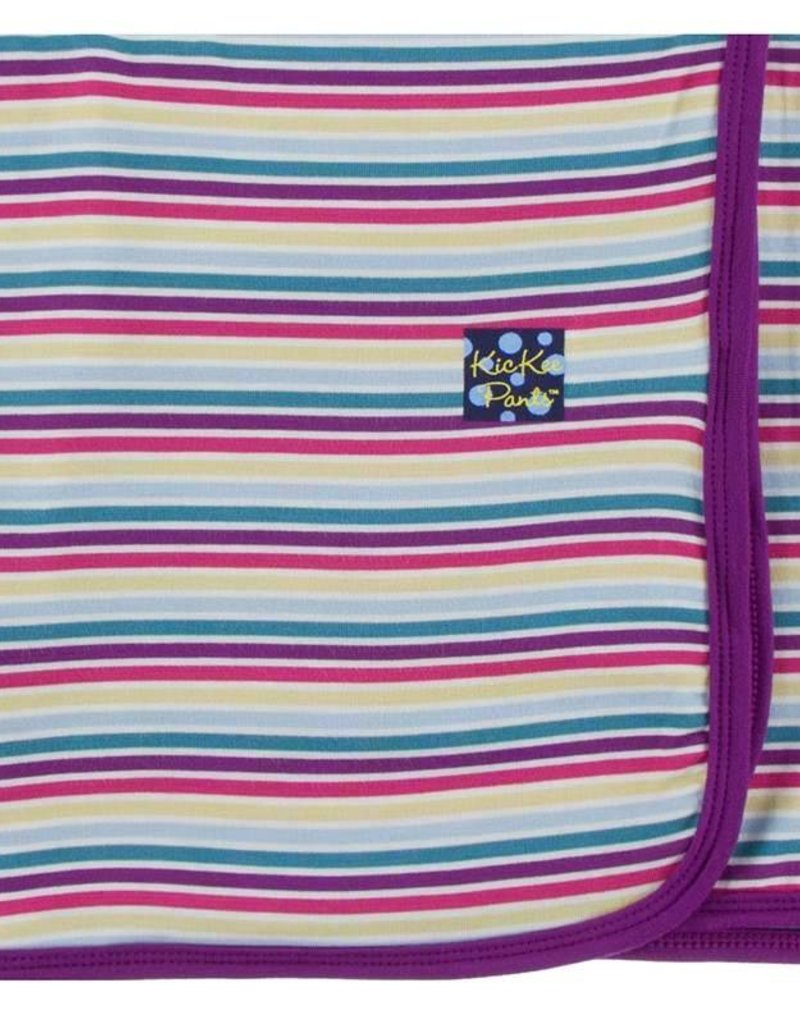 Kickee Pants Girl Perth Stripe Swaddle