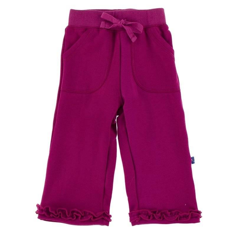 Kickee Pants Starfish Solid Ruffle Sweatpant
