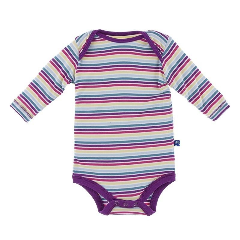 Kickee Pants Girl Perth Stripe LS One Piece