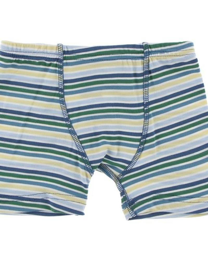 Kickee Pants Perth Stripe Boxer Brief Set