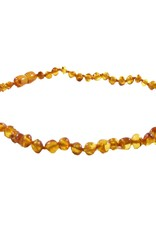 The Amber Monkey Polished Baroque Baltic Amber Necklace