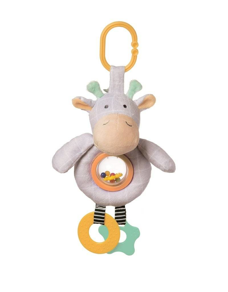 Manhattan Toy Playtime Plush Giraffe rattleball activity