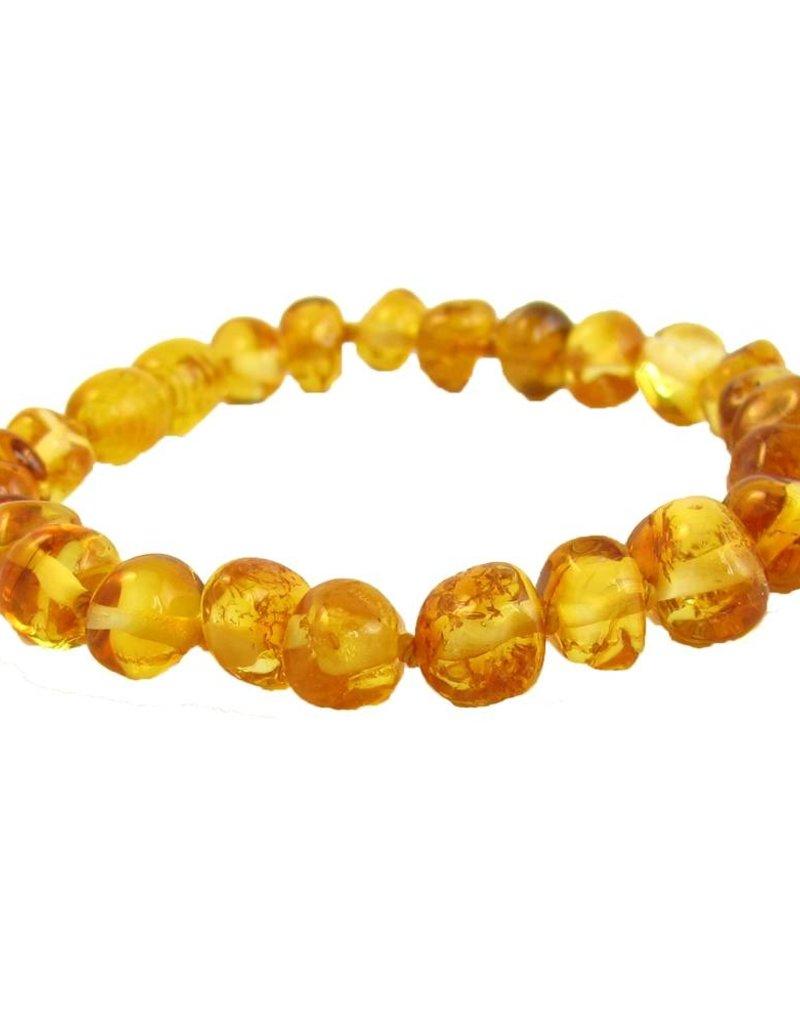 The Amber Monkey Polished Baroque Baltic Amber Bracelet