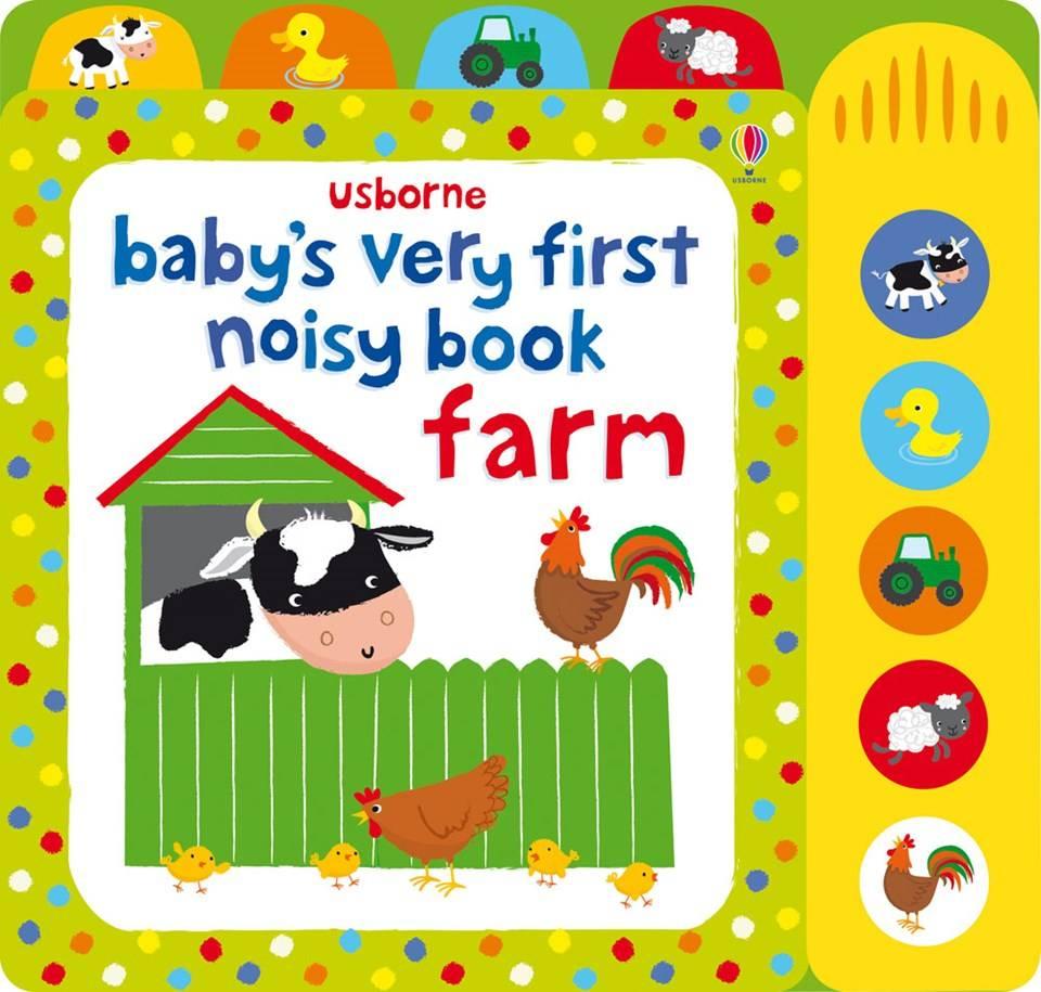 Usborne Books baby's first noisy book farm