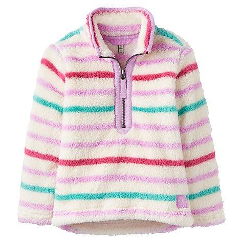 Little Joule Merry Multi Stripe Fleece Half Zip