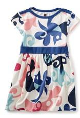Tea Collection Tweet Cap Sleeve Dress CHALK