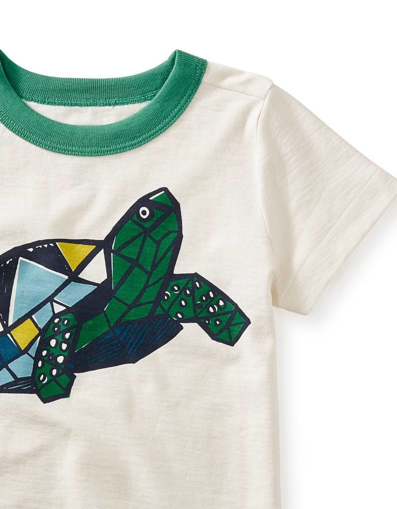 Tea Collection Turtle Power Graphic Tee CHALK