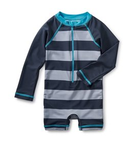 Tea Collection Sandbar Rash Guard One-Piece INDIGO