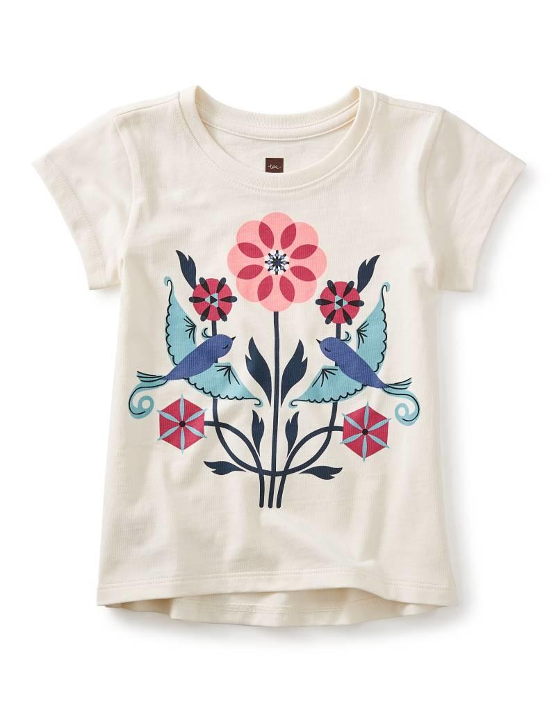 Tea Collection LoveBirds Graphic Tee CHALK