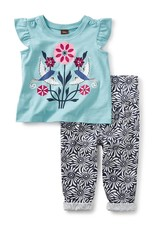 Tea Collection LoveBirds Baby Outfit MAR