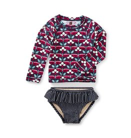 Tea Collection Kaleidoscope Swim Set INDIGO