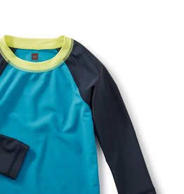 Tea Collection Deep Dive Baby Rash Guard PACIFIC BLUE