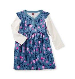 Tea Collection Snowdrop Bby Button Neck Dress