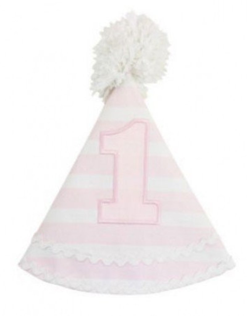 Ruffle Butts Pink Stripe Birthday Hat