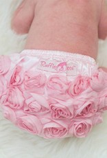Ruffle Butts Pink Rose Bloomer  3-6m