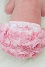 Ruffle Butts Pink Rose Bloomer  12-18m