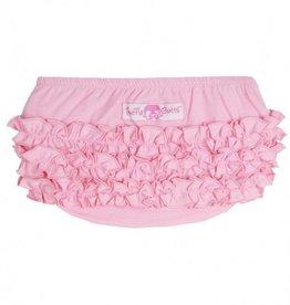 Ruffle Butts Pink Knit Ruffle Butt  3-6m