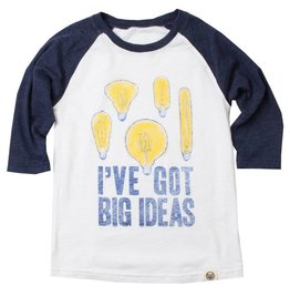 Wes and Willy Big Ideas Midnight Raglan Tee