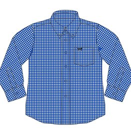Wes and Willy Blue Moon Mini Gingham LS shirt