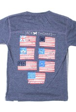 Wes and Willy Midnight Flag Tee by Jack Thomas