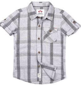 Appaman Benson Grey Linen Plaid Shirt