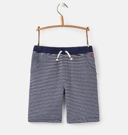 Little Joule Navy Stripe Pique Short